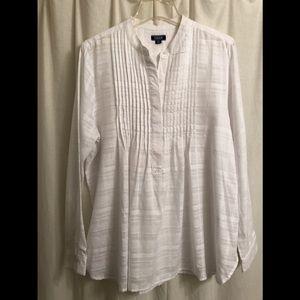 Izod white tunic size, size L, NWOT